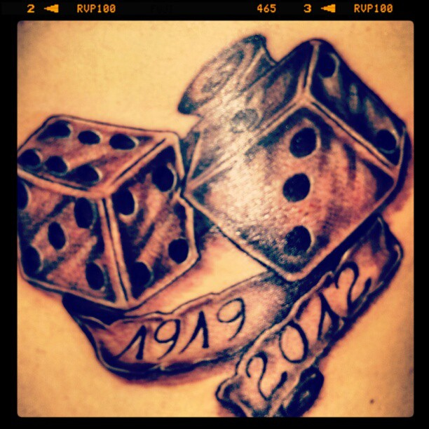 Memorial Dice Tattoo Picture