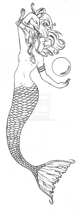Mermaid Pinup Tattoo Sample