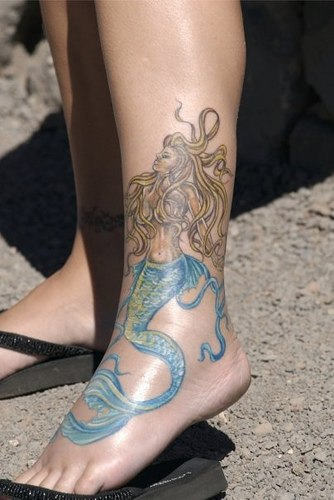 Mermaid Tattoo For Ankle