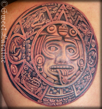 Mexican Aztec Tattoo on Biceps