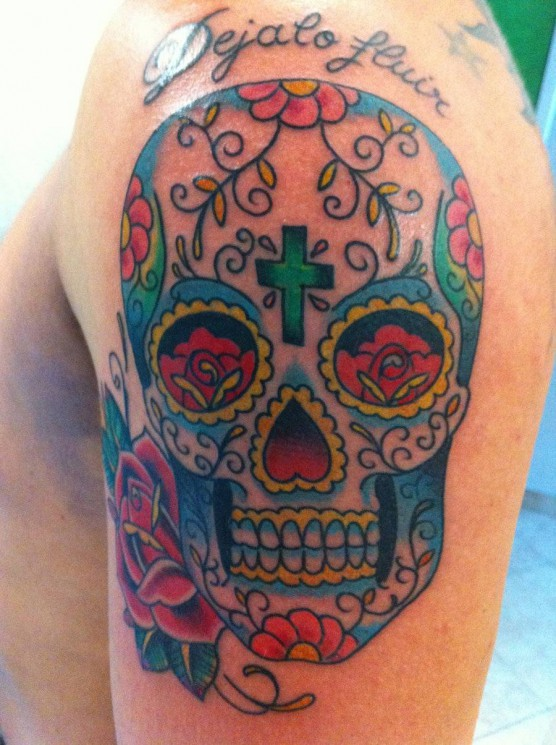 Mexican Day Of The Dead Tattoo On Arm