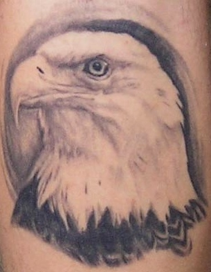 Mexican Flag Eagle Tattoo On Shoulder