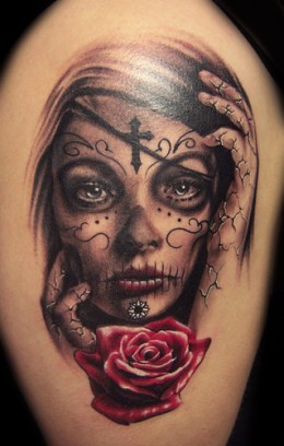 Mexican Girl Tattoo Image