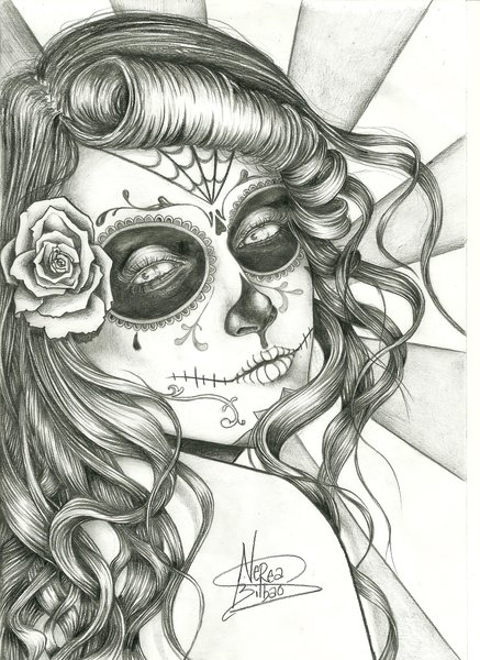 Mexican Sugar Skull Tattoo On Chest For Men
