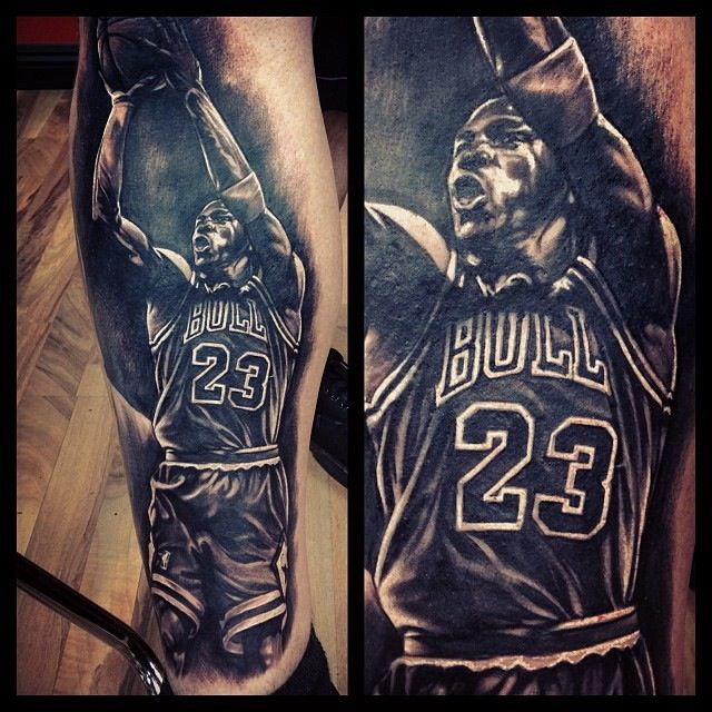 michael jordan and lebron james tattoos on leg photo 4 2017 real photo pictures images and. Black Bedroom Furniture Sets. Home Design Ideas