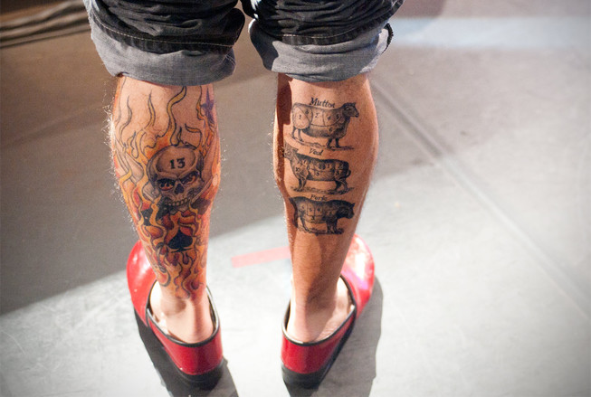 Michael Symon Leg Tattoo Designs