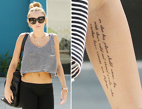 Miley Cyrus Love Never Dies Tattoo For Women