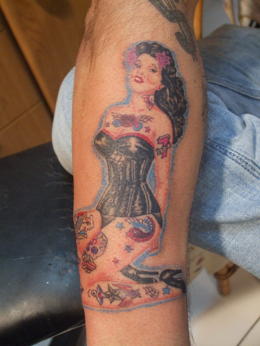 Military Pin Up Tattoo Designs
