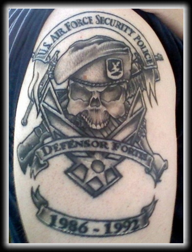 Military Police Skull Tattoo Image