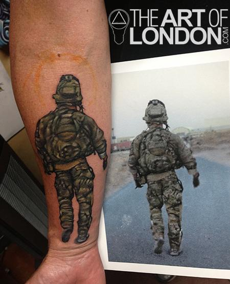 Military Ranger Tattoo On Arm