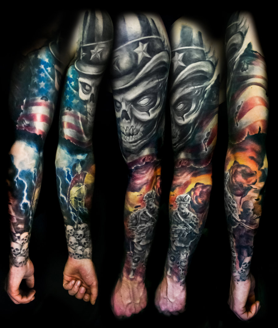 1000 ideas about soldier tattoo on pinterest military tattoos - All Images To Military Sleeve Tattoo Designs