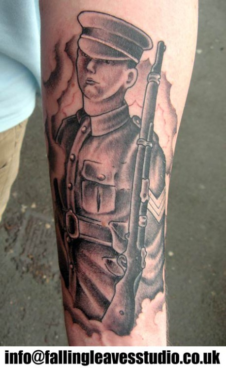 Military Soldier Tattoo Image