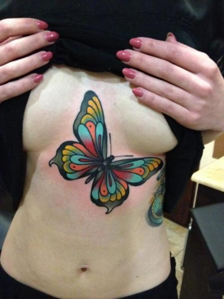 Multicolored Butterfly Tattoo Picture
