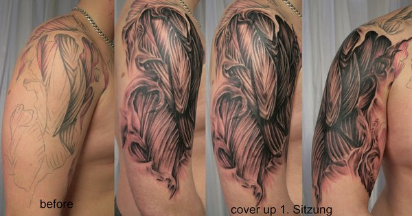 Muscle Cover Up Tattoos