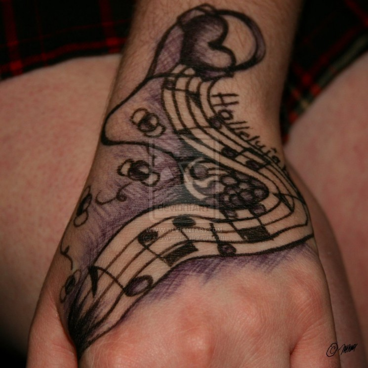 Music Arm Tattoos For Women