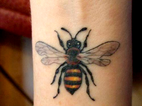 My Bee Tattoo Design