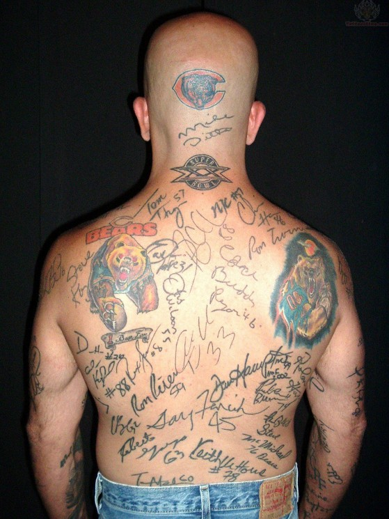 NY Sports Tattoo On Back Of Shoulder