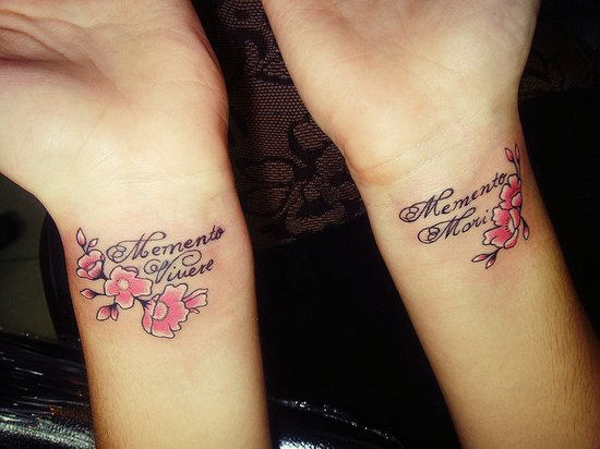 Name And Diamond Tattoos On Upper Arm