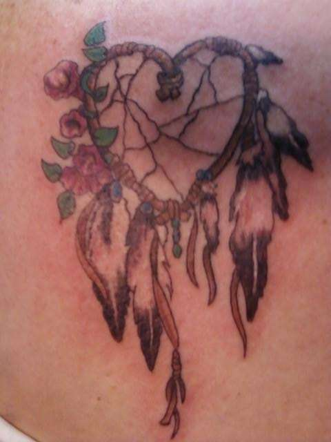 Native American Animal Skull Dreamcatcher Tattoo