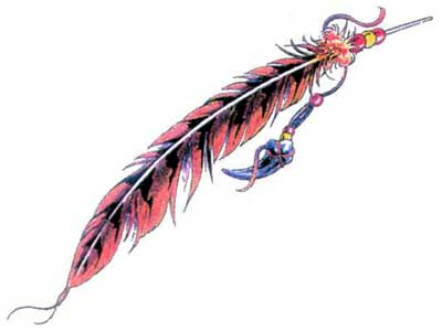 Native American Feather Tattoos