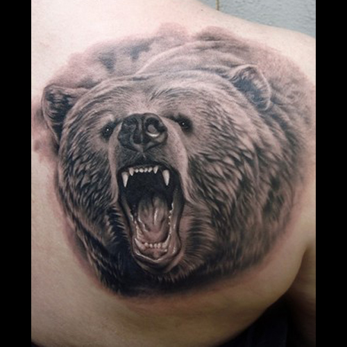 Native Bear Tattoo Design