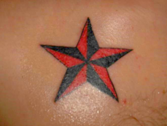 Nautical Star Tattoo For Girls On Hip