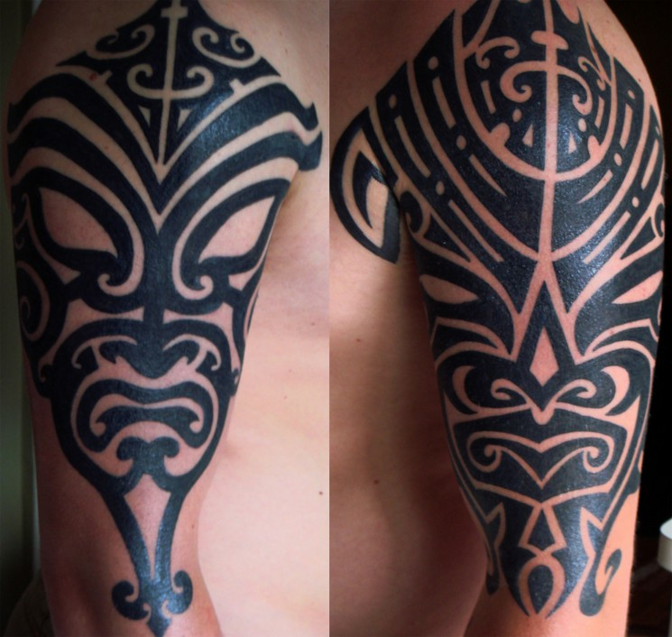 New Black Tribal Spider Tattoo Design