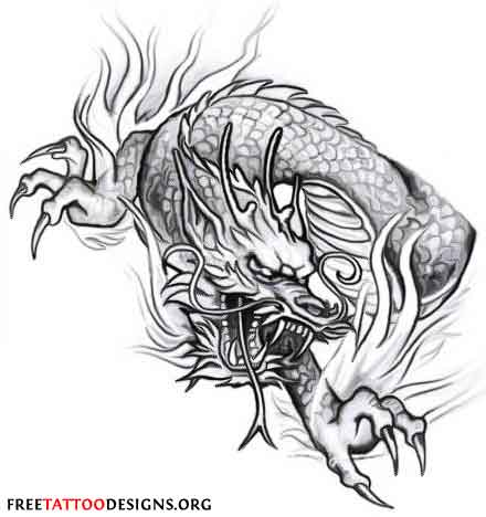 New Chinese Dragon And Tiger Tattoo Design