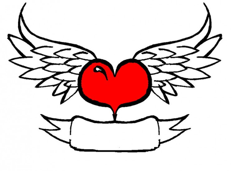 New Heart With Wings Tattoo Sample