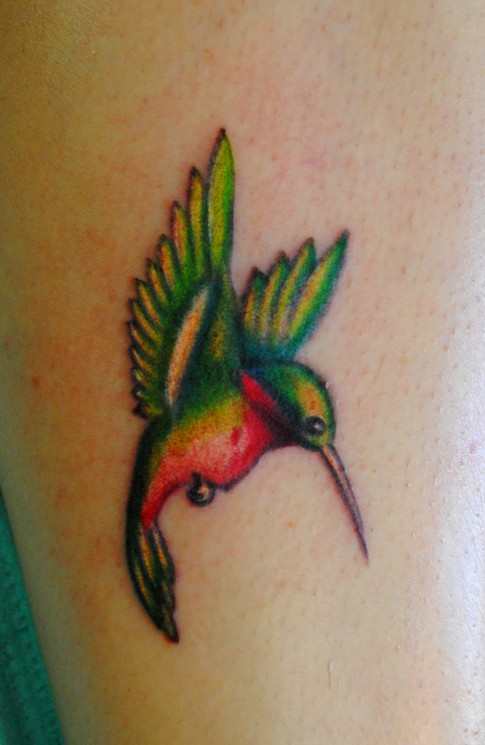 New Hummingbird Tattoo Design