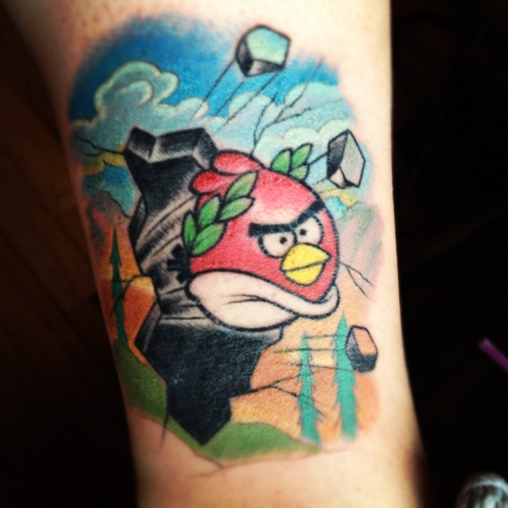 New Ink Angry Birds Tattoos