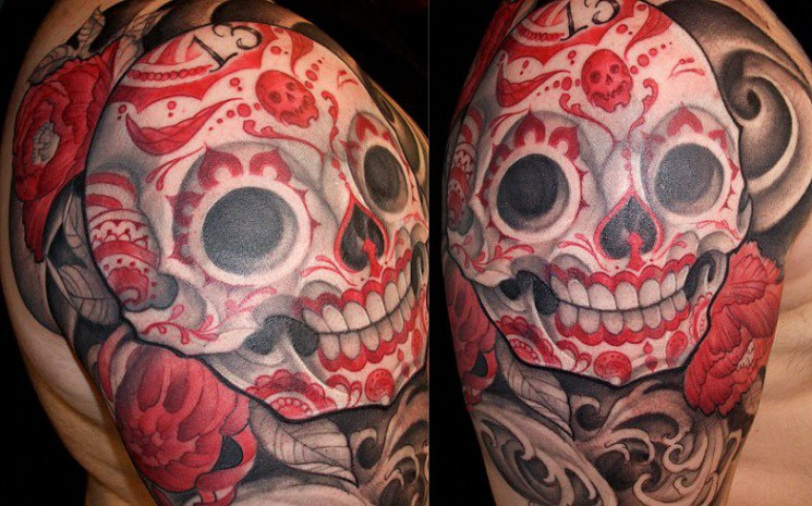 New Japanese Tattoos On Left Muscles