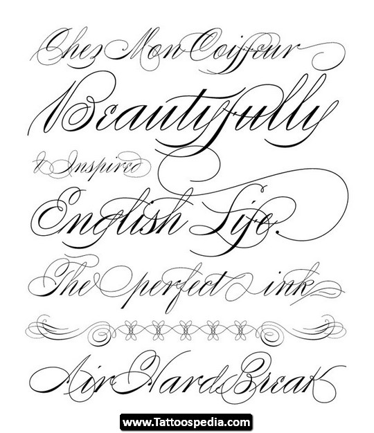 New Lettering Fonts Tattoo Designs