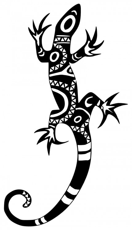 New Lizard Tattoo Design