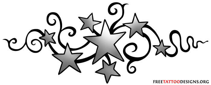 New Outline Moon And Star Tattoos Designs
