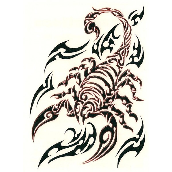 New Style Scorpion Tribal Tattoo For Men