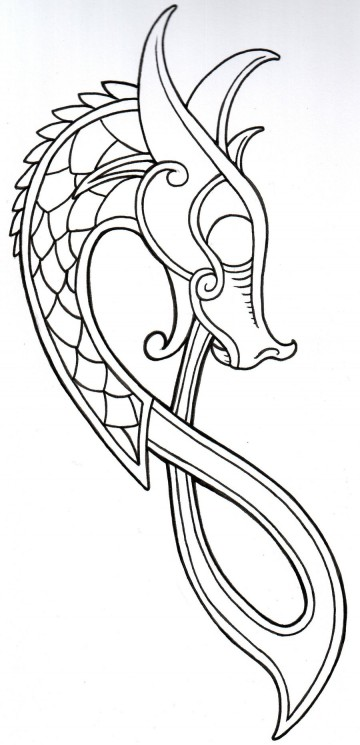 New Viking Dragon Tattoo Design