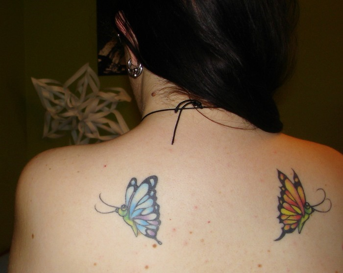 Nice Butterfly Tattoo on Shoulder
