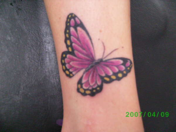 Nice Coloured Butterfly Tattoo