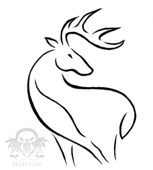 Nice Deer Tattoo Sample