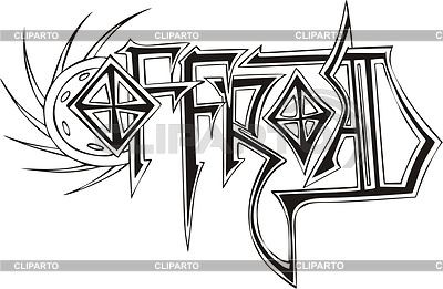 Offroad Graffiti Tattoo Design