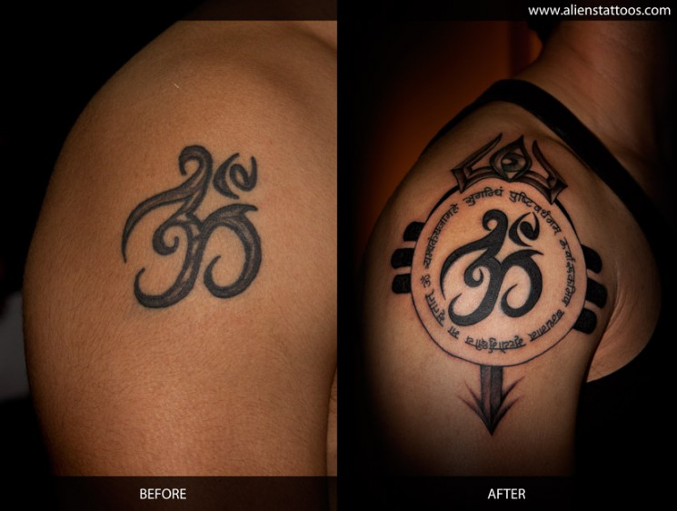 Ohm Sun Tattoo For Shoulder