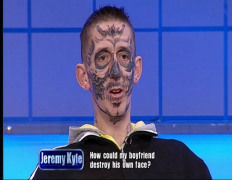 Old Peoples Face Tattoos