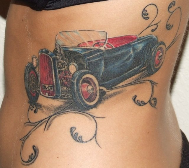 Old School Car Tattoo Picture
