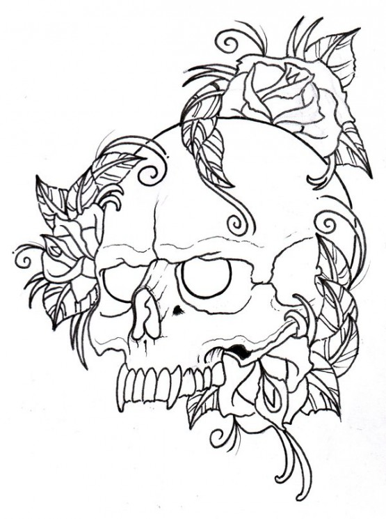 Old Wizard With Skull Tattoo On Arm