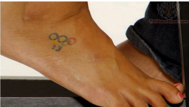 Olympic Rings Tattoos On Hip