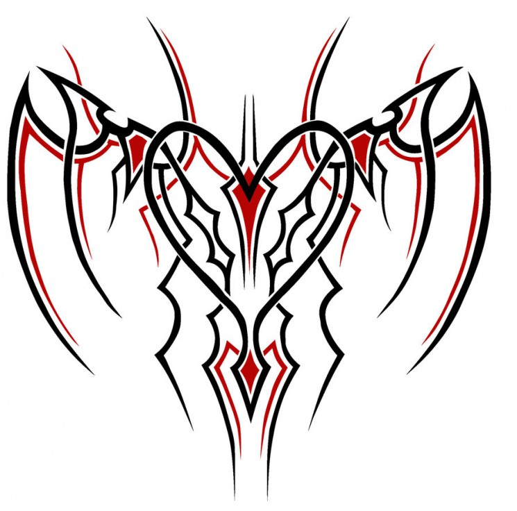 One More Tribal Heart Tattoo Design
