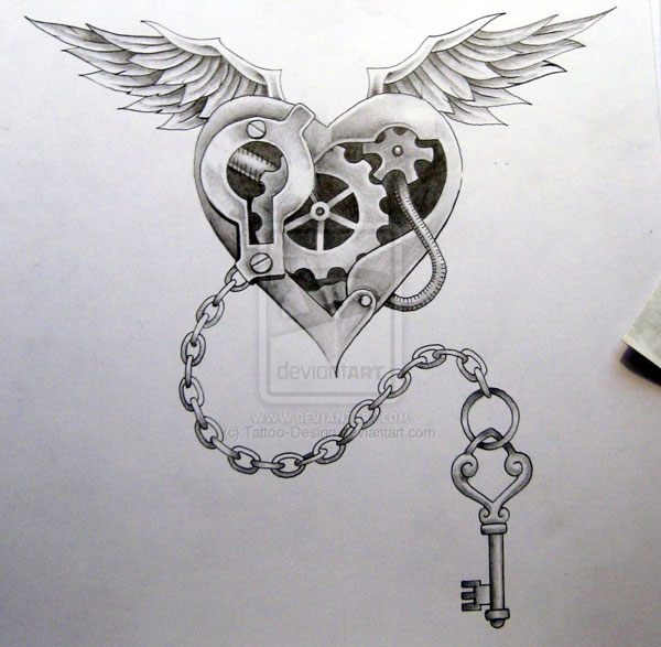 Open My Heart Tattoo Design
