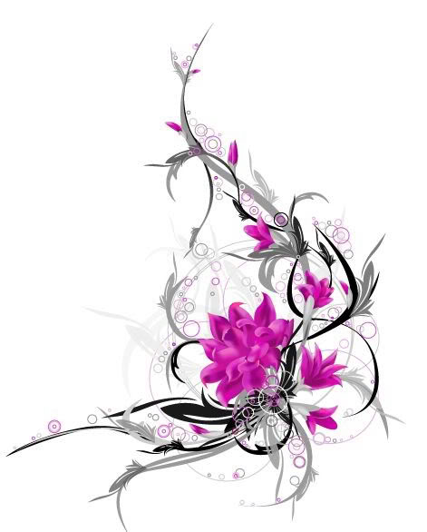 Orchid Flower Tattoo Design Picture