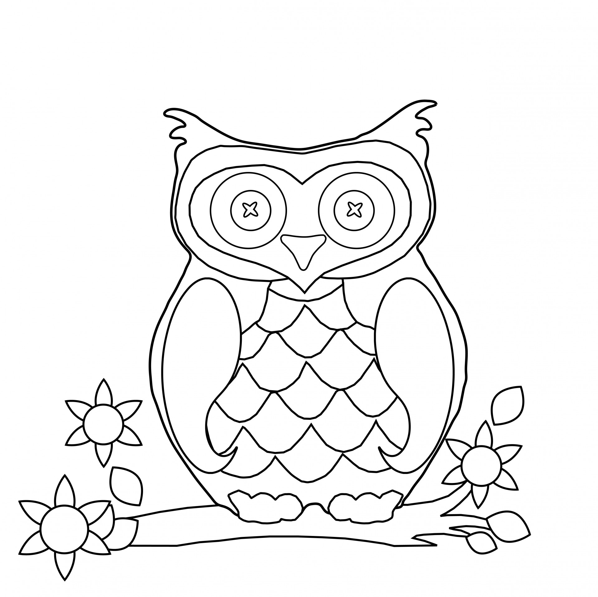 outline owl sitting on branch tattoo sample real photo pictures